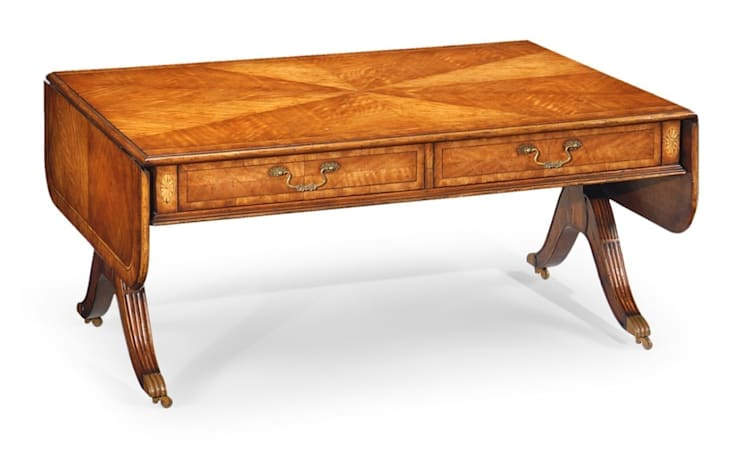 Jonathan Charles Satinwood Folding Coffee Table:  Living room by Pavilion Broadway