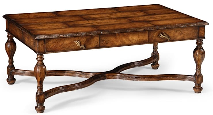 Jonathan Charles Rustic Walnut Coffee Table:  Living room by Pavilion Broadway