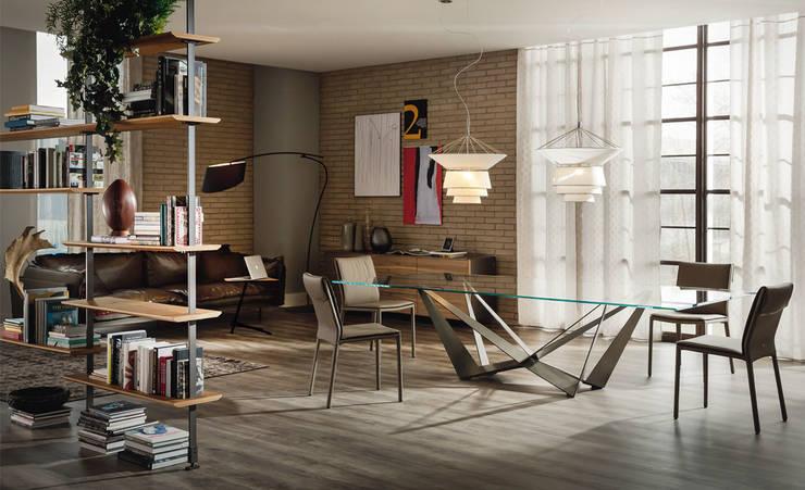 Skorpio table by Cattelan Italia:  Dining room by Urbansuite