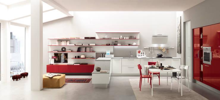 Alicante - Hybrid & Casual: Cucina in stile  di Matteo Beraldi Design Office,