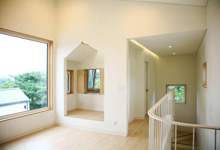 Projekty, nowoczesne Domy zaprojektowane przez 삼간일목 (Samganilmok)