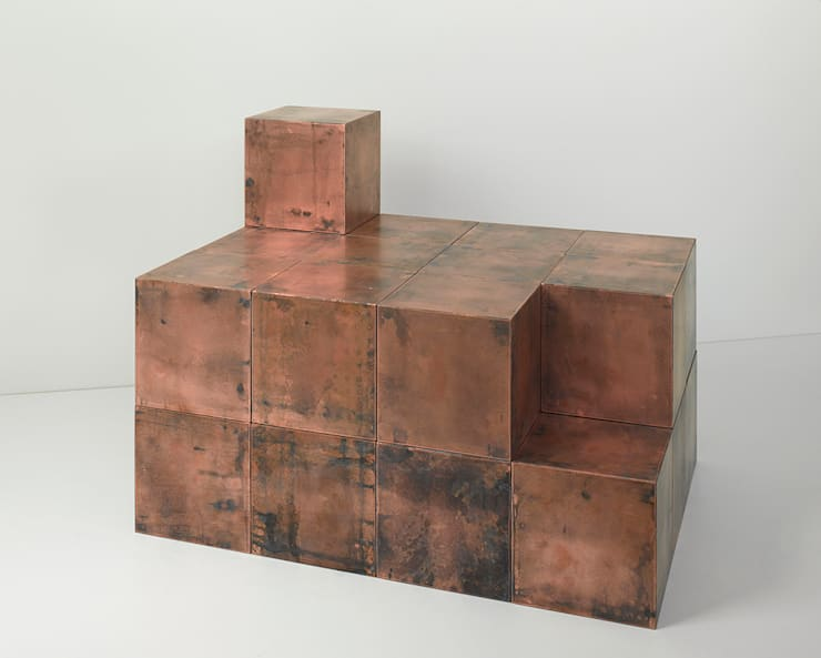 BOB System Copper cubes:  Interior landscaping by Paul Kelley Ltd
