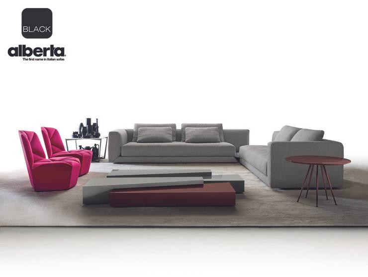Black Collection: Soggiorno in stile  di Alberta Pacific Furniture, Moderno