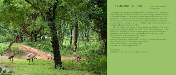 LIFE NATURE AT STAKE:  Artwork by mrittika,  the sculpture
