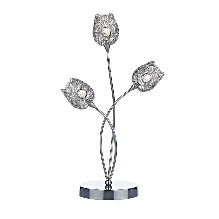 Polished chrome table lamps:  Living room by Socket Store