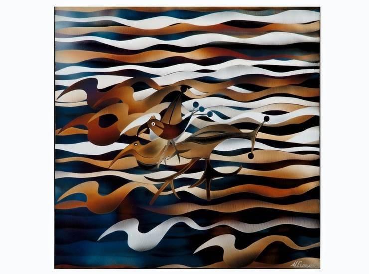 Les vagues et les surfeurs: Art de style  par Michel Girard
