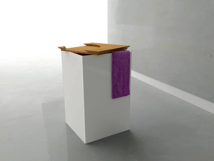 Gamme d'accessoires salle de bain: Salle de bain de style  par Julien Beurrier