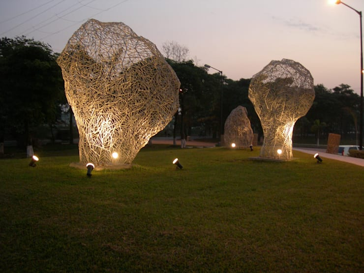 SILIGURY, UTTORAYAN  TOWNSHIP  outdoor  sculpture project,india:  Garden  by mrittika,  the sculpture
