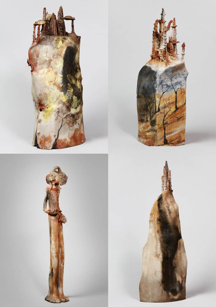 """""""Villages et Corps d'Ombres"""": Art de style  par Isabelle Delin"""