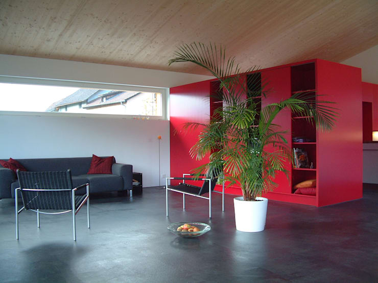 EFH Spescha Zizers:  Wohnzimmer von hogg architektur