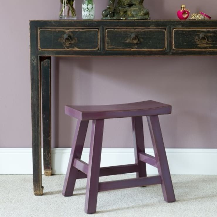 Chinese Berry Lacquer Stool:   by Orchid