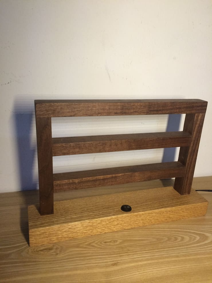 wooden light: 홍스목공방의 현대 ,모던
