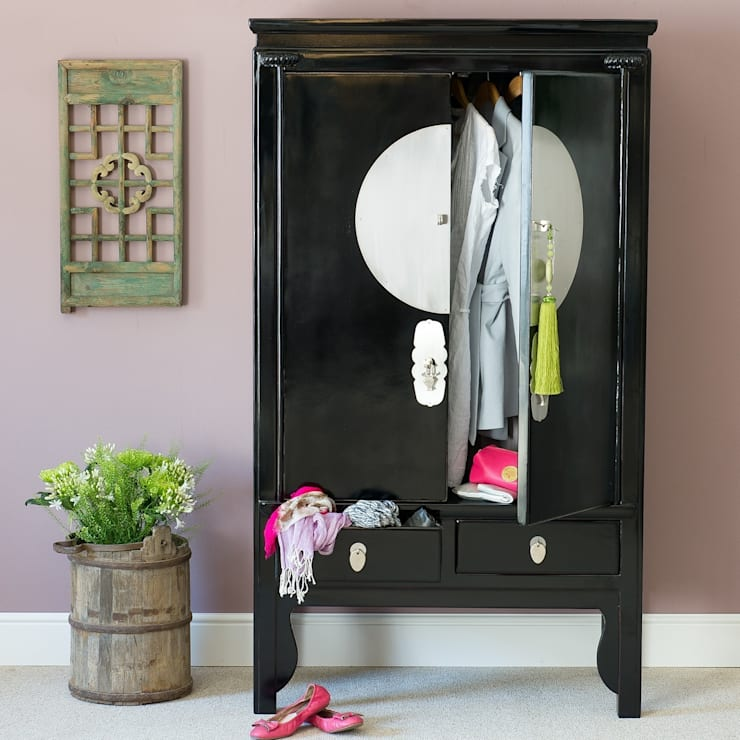 Black Lacquer Wedding Cabinet:   by Orchid