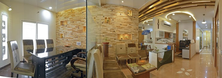 Office of Ar. Amit Sankhla (Young Energetic Interior Designer):  Study/office by Floor2Walls