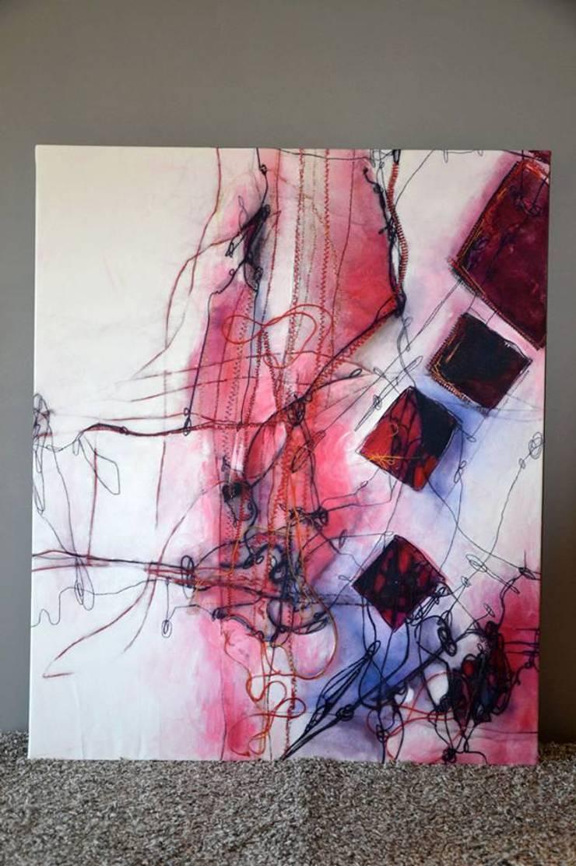 Peinture cousue: Art de style  par Marine Chalayer Design Textile