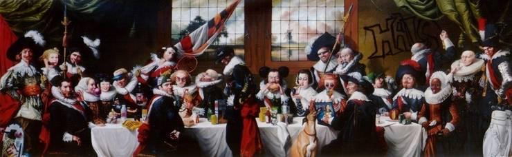 HALS'S BRUNCH – Hotel  » Le Pulitzer  » Amsterdam: Salle à manger de style  par Thierry Bruet Painter
