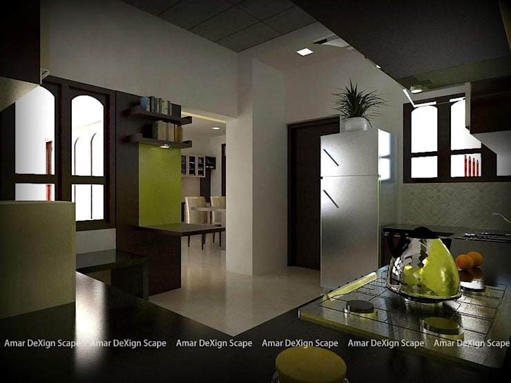 Kitchen:  Living room by Amar DeXign Scape
