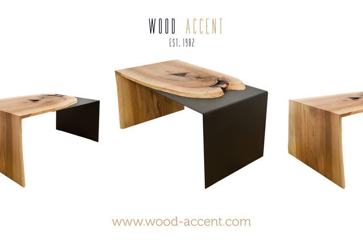 Salas / recibidores de estilo  por WOOD ACCENT, Industrial