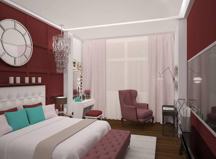Спальня : Спальни в . Автор – Medianyk Studio