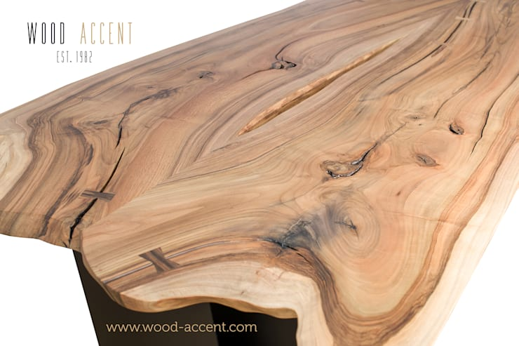 UNIQUE  WOODEN  TABLES  WOOD ACCENT: styl , w kategorii Salon zaprojektowany przez WOOD ACCENT,