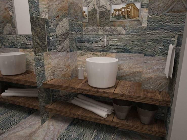 Ванная комната : Ванные комнаты в . Автор – Medianyk Studio