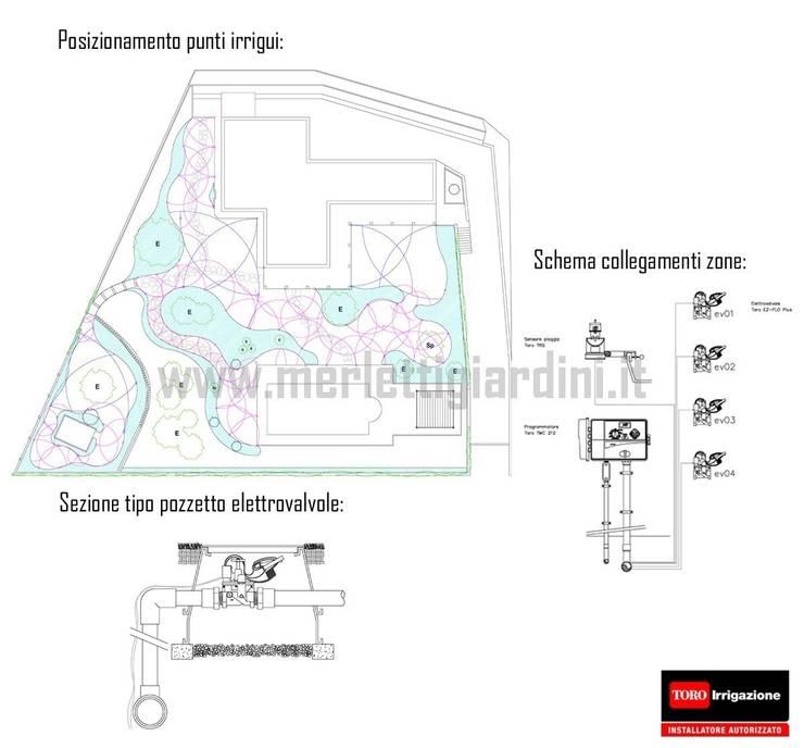 Atmosfere d'Abruzzo: Giardino in stile  di Merletti Garden Design,