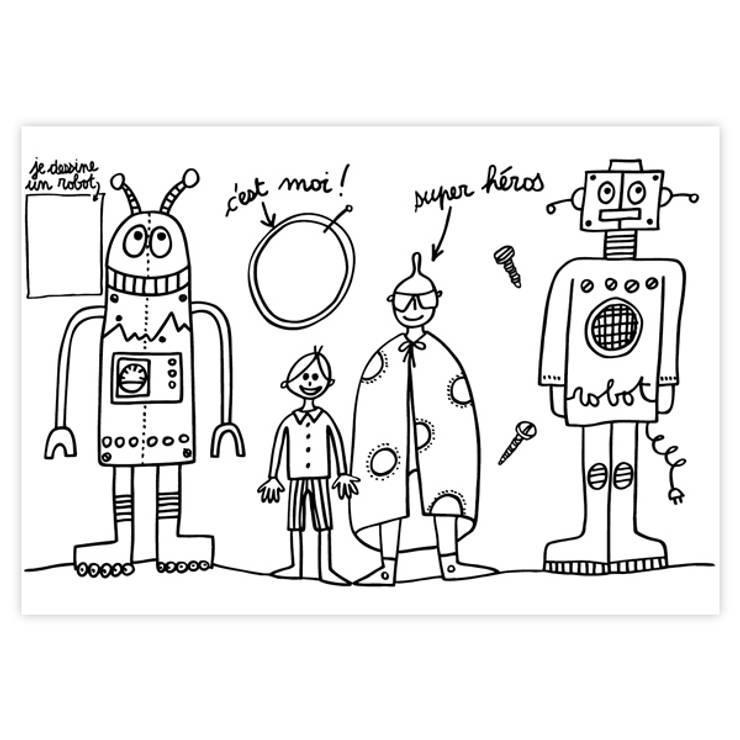 """Set de table """"Robots"""": Chambre d'enfants de style  par lapetitegalerie"""