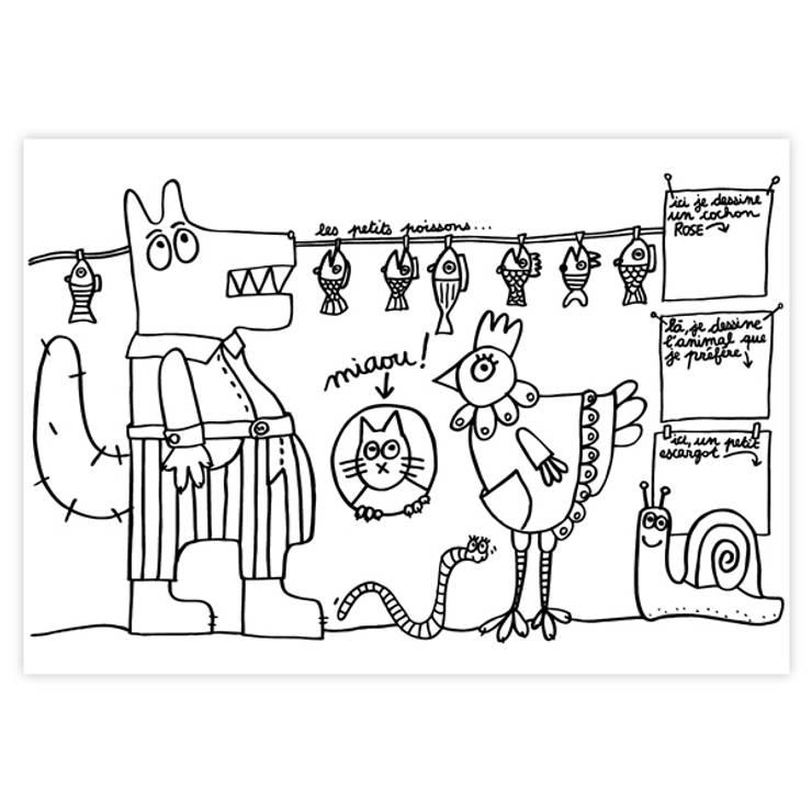 """Set de table """"Animaux"""": Chambre d'enfants de style  par lapetitegalerie"""