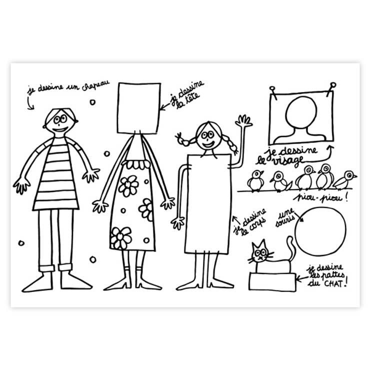 """Set de table """"Famille"""": Chambre d'enfants de style  par lapetitegalerie"""