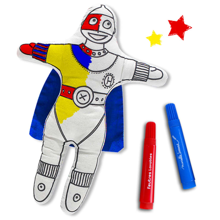 Supergarçon à colorier: Chambre d'enfants de style  par lapetitegalerie