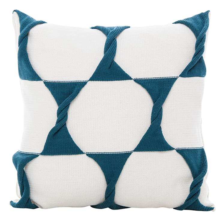 Twist Cushion - Cream / Teal:  Household by From Brighton With Love