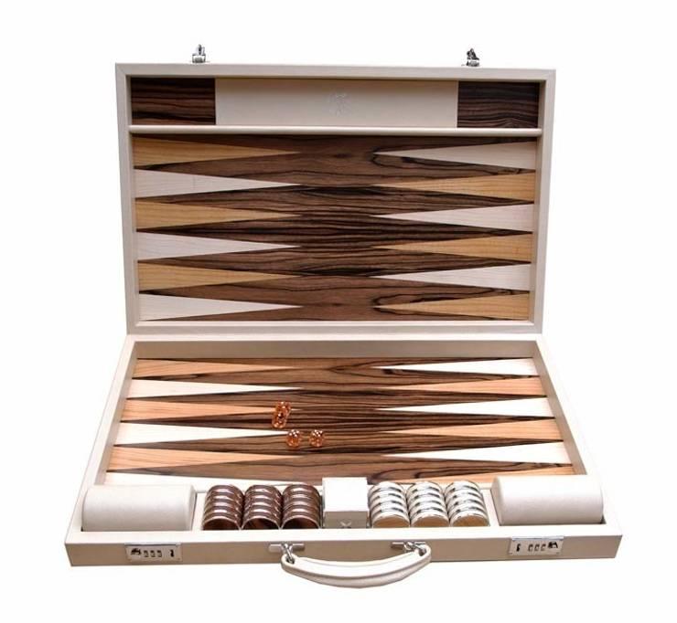 Bespoke Mediterranean Backgammon:  Multimedia room by Geoffrey Parker Games Ltd