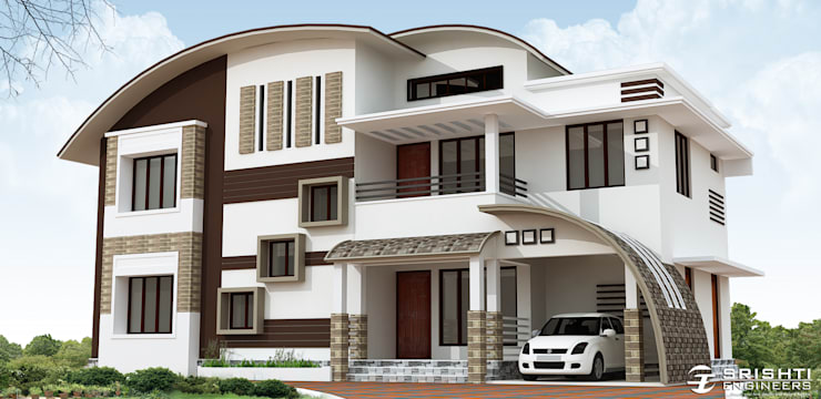 Exterior Elevation Designs:   by SRISHTI ENGINEERS