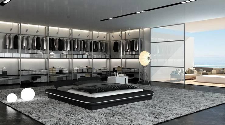 Lit design noir Dubbo: Chambre de style  par Mobilier Nitro