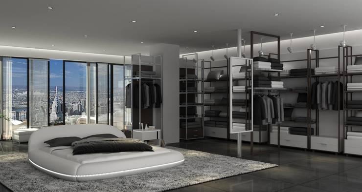 Lit rond Lismore blanc: Chambre de style  par Mobilier Nitro