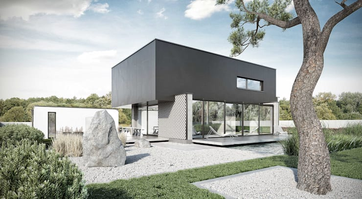 część ogrodowa: styl , w kategorii  zaprojektowany przez ENDE marcin lewandowicz