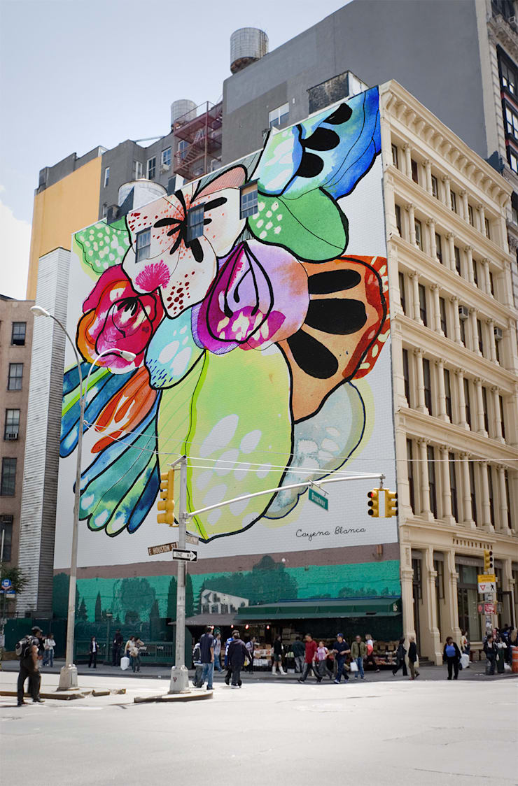 Urban tales: Pareti in stile  di Cayena Blanca