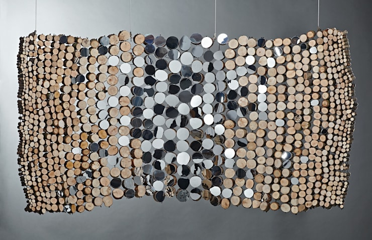 Curved mirror tapestry:  Artwork by Lee Borthwick
