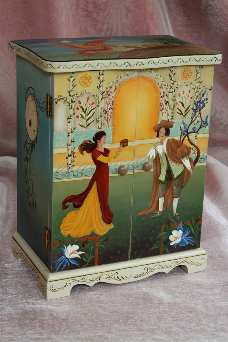 Peinture décorative: Peinture & Papillon – Danielle Polverini, Artisan créateur – : Art de style  par PEINTURE ET PAPILLON