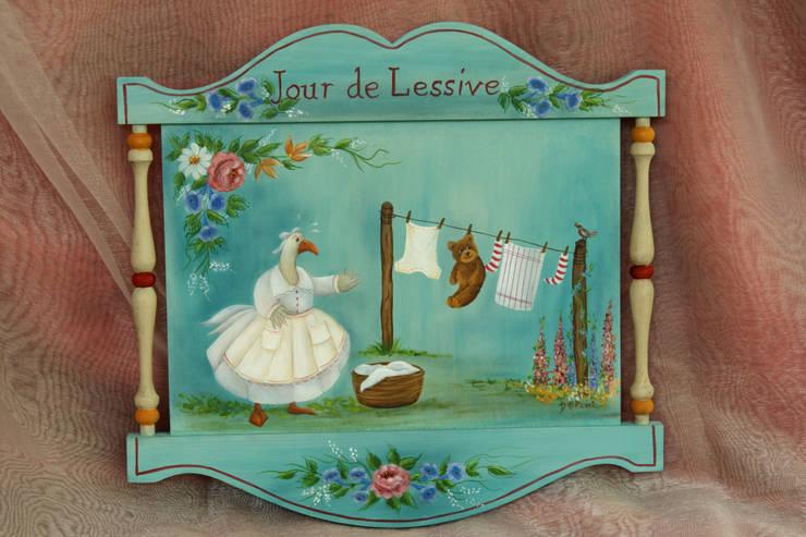 Peinture décorative: Peinture & Papillon - Danielle Polverini, Artisan créateur - : Art de style  par PEINTURE ET PAPILLON
