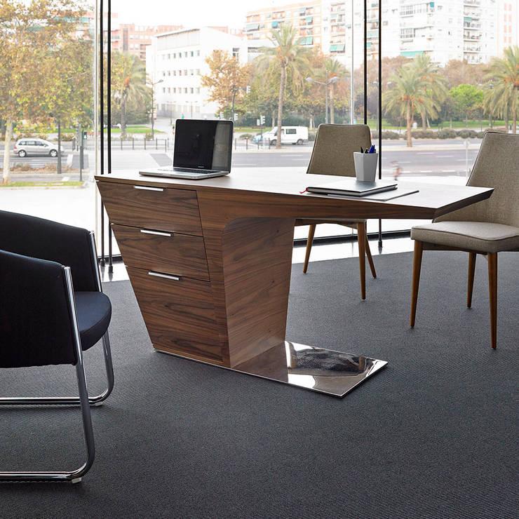 DESPACHOS Y OFICINAS: Estudios y despachos de estilo moderno de Muebles Flores Torreblanca