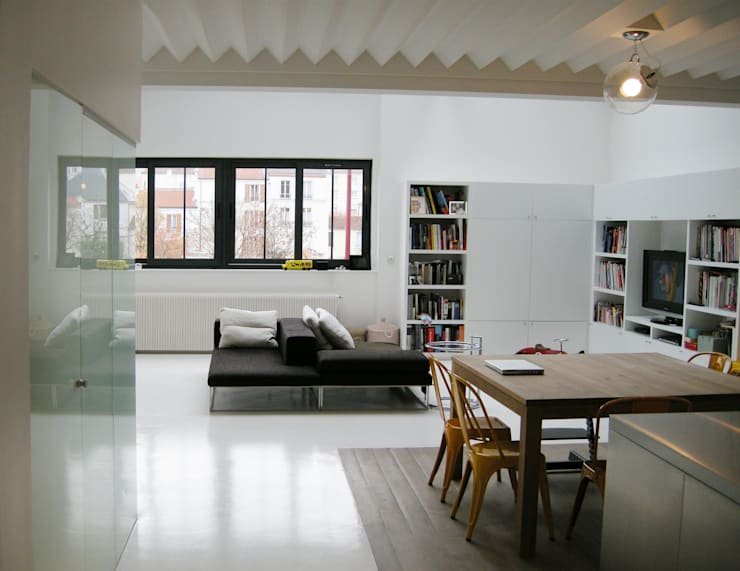 modern Living room by Barbara Sterkers , architecte d'intérieur