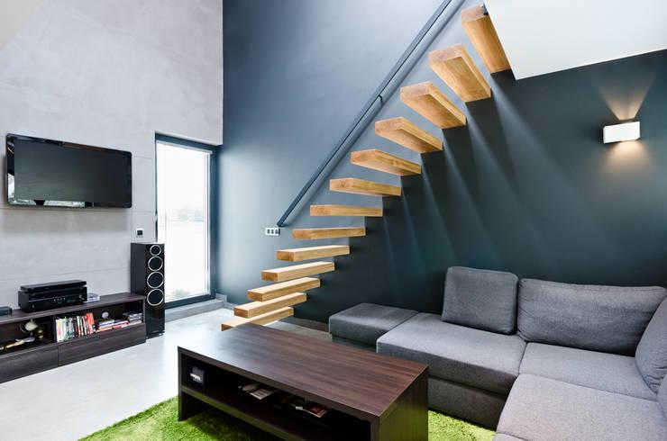 apartament dwupoziomowy: styl , w kategorii Korytarz, przedpokój zaprojektowany przez ENDE marcin lewandowicz,Minimalistyczny