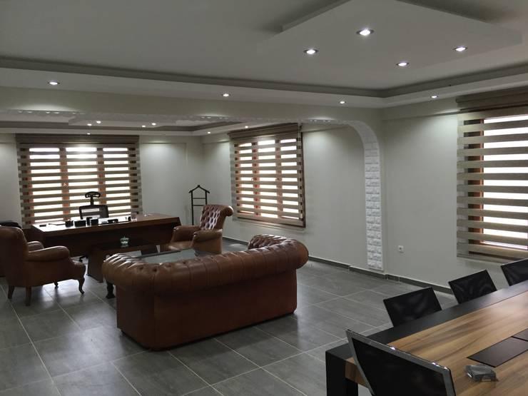 tuğra perde – perde çeşitleri:  tarz Çalışma Odası