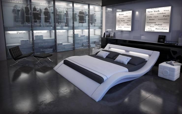 Lit design lumineux Sydney: Chambre de style  par Mobilier Nitro