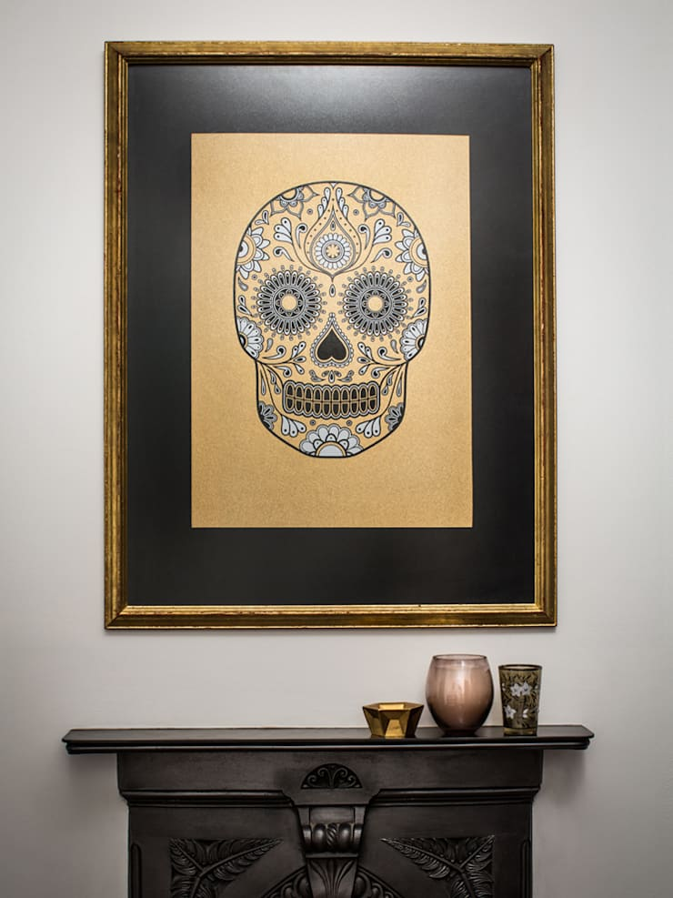 Gold Sugar Skull:   by Anatomy Boutique