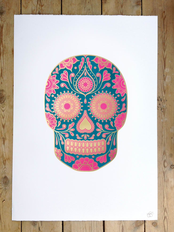 Summer Sugar Skull:   by Anatomy Boutique