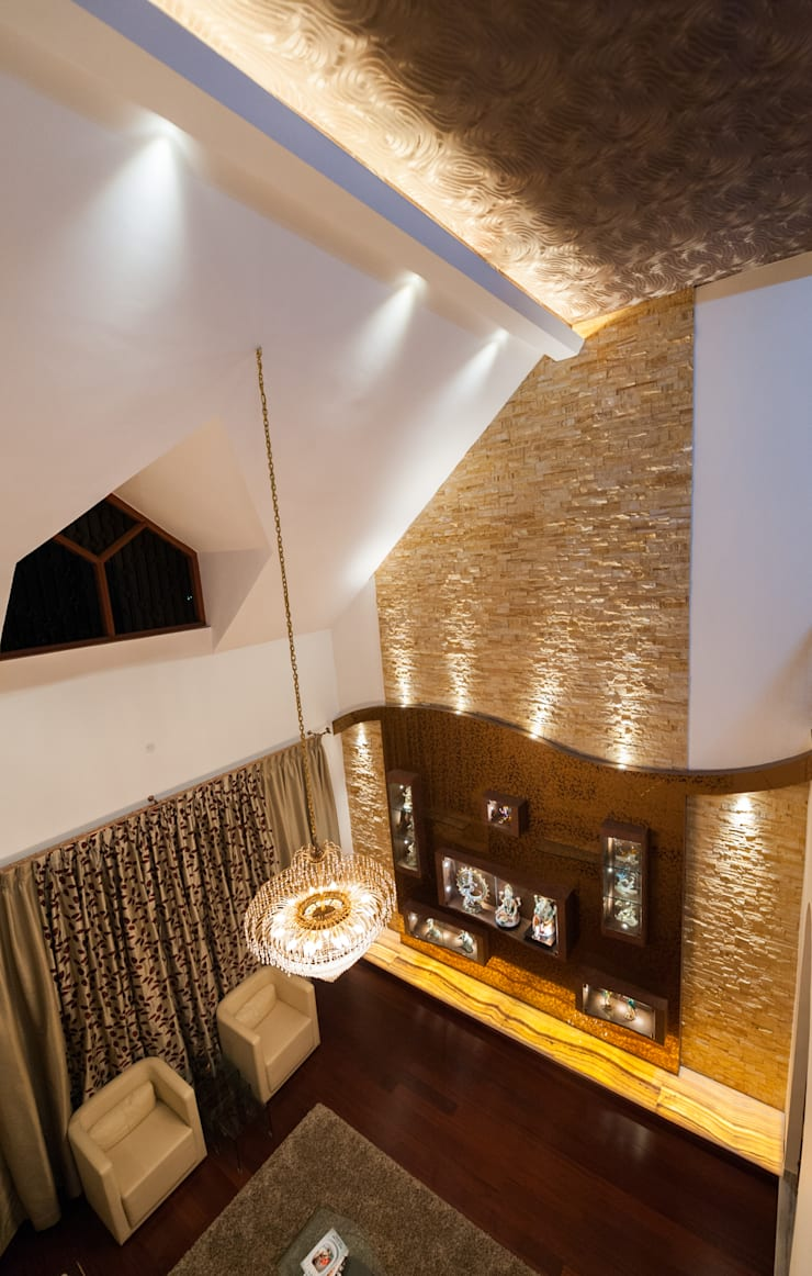 Double Height Of the Formal Living:  Living room by Vishwanath And Associates