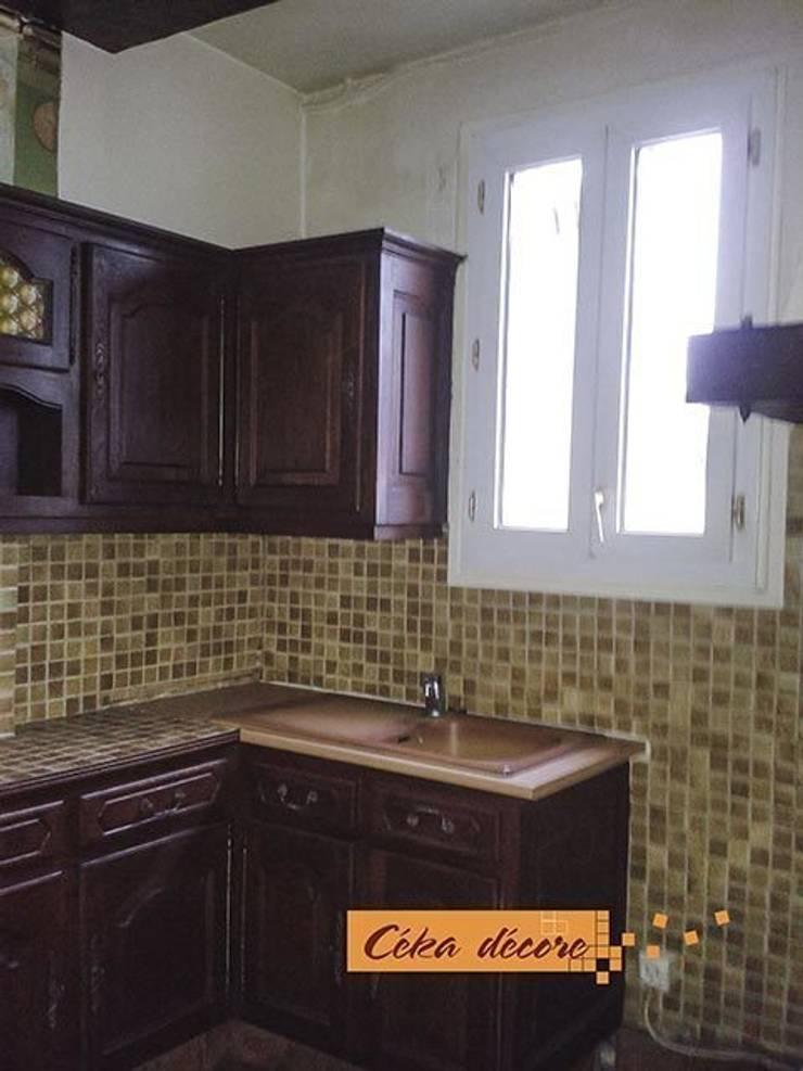 Création d'une chambre d'ado dans l'ancienne cuisine:  de style  par Céka décore