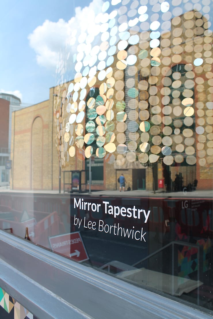 Curved Mirror Tapestry (in the window):  Artwork by Lee Borthwick